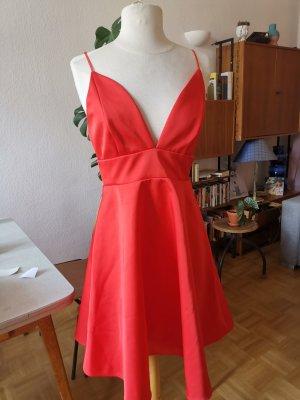 Kleid Cocktailkleid A Linie rot 36 S