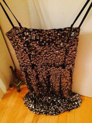 Kleid Cocktailkleid Pailletten Gold Schwarz von Traffic People NEU