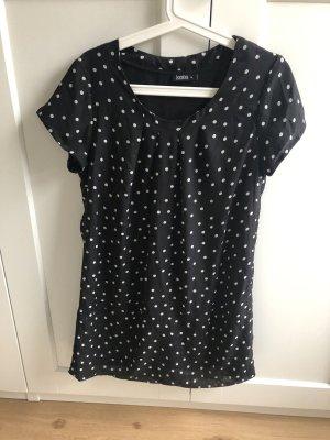 Janina Chiffon jurk zwart-wit