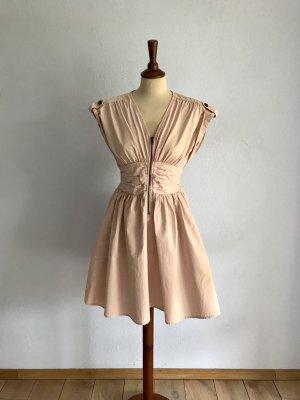 Kleid Cocktailkleid Sommerkleid H&M Gr. 36 / S Rosa Nude Rosé