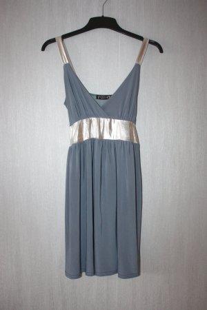 Kleid Coktailkleid Größe M Grau / Silber