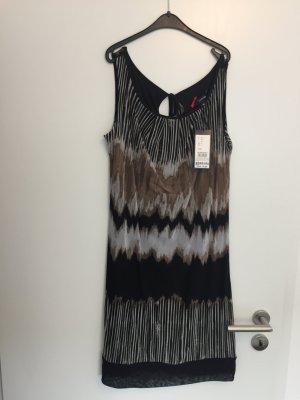 Kleid Comma schwarz/beige