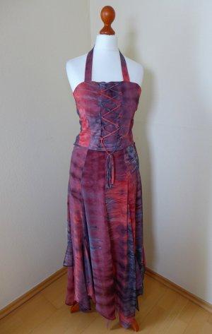 Kleid Corsage Bustier Schnürung Rock rot schwarz grau Gr. 32