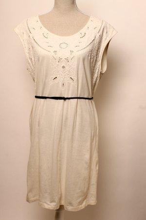 Kleid creme weiß 38 m Gürtel Boho Hippie Sommer Spitze