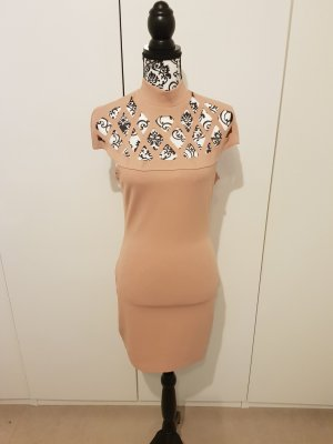 Cut Out Dress rose-gold-coloured