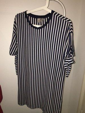 Asos T-shirt jurk blauw-wit