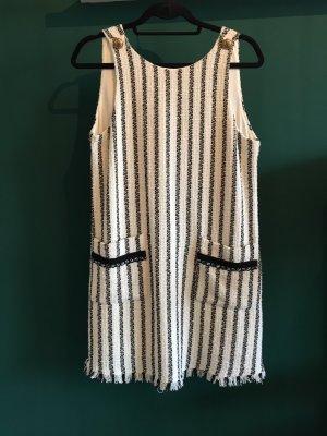 Zara Trafaluc Fringed Dress natural white-black
