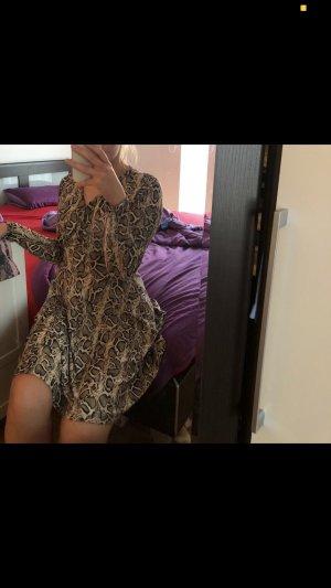 Cut out jurk veelkleurig