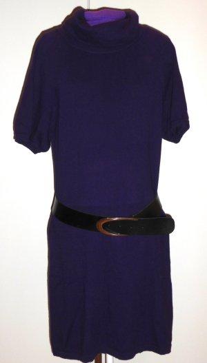 Kleid Damen 38 (M) violett Wolle kurzarm Public Cashmere/Angora ohne Gürtel