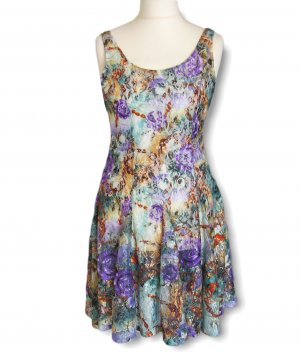 Stretch Dress multicolored mixture fibre