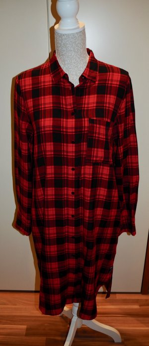Marc O'Polo Abito blusa camicia nero-rosso scuro Viscosa