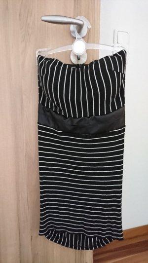 Vestido de tubo blanco-negro
