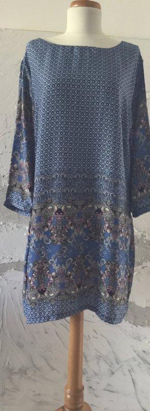 Best emilie Midi-jurk korenblauw-lichtroze Polyester