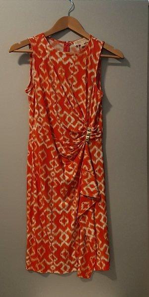 Michael Kors Vestido strapless naranja
