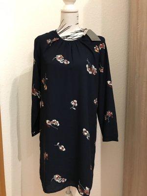 Kleid dunkelblau Blumen