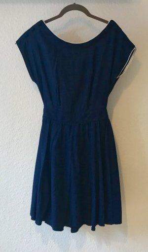 Kleid dunkelblau Gr. XS maritim Rückenausschnitt