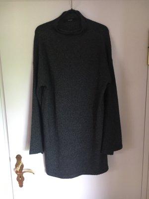 Kleid dunkelgrau M Vero Moda Trompetenarm Stehkragen