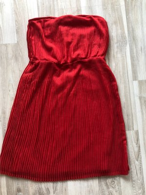 Zara Woman Off the shoulder jurk rood