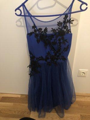 Balloon Dress black-blue