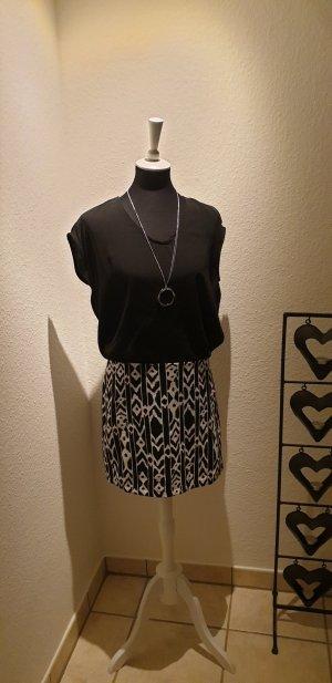 Axara Shortsleeve Dress black-white mixture fibre