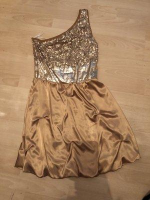 Bodyflirt Vestido de un hombro color oro