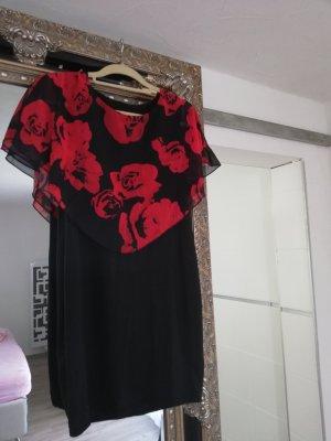 Robe de soirée noir-rouge carmin