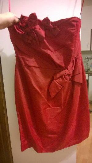 Kleid edel rot Schleifen Ballkleid