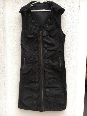 Hooded Dress black cotton