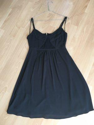 Kleid Esprit de Corp S 36 schwarz Träger Reisverschluss Gold neuwertig