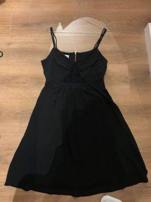 Kleid Esprit de Corps schwarz spitze Chiffon 36 S Sommerkleid