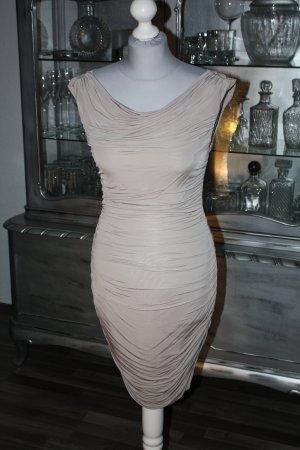 Kleid Etuikleid Badeaukleid beige creme 34 H&M