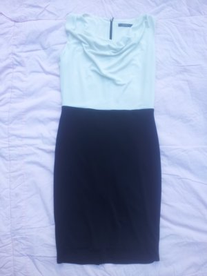 Kleid Etuikleid Business Esprit schwarz weiß Gr. 40