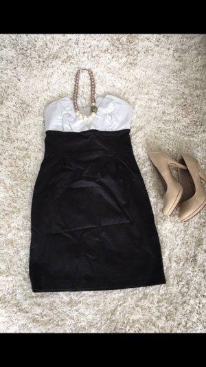 Kleid Etuikleid Cocktailkleid Abendkleid S schwarz weiß