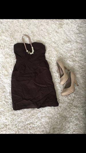 Kleid Etuikleid Cocktailkleid Hochzeitsgast braun S Sommer Party Strand