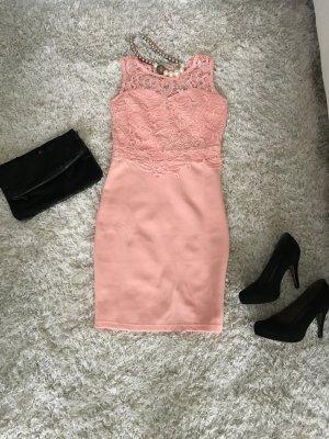 Kleid Etuikleid Cocktailkleid Hochzeitsgast Party apricot nude s Neu Abendkleid