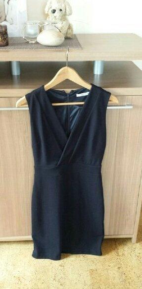Kleid Etuikleid dunkelblau Mango