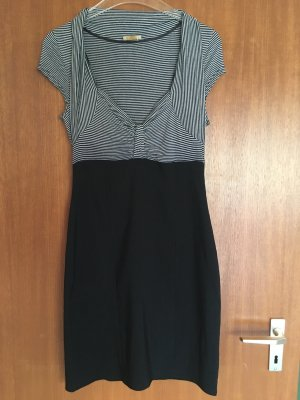 Kleid Etuikleid eng sexy schwarz weiß 2-in-1 Gr. 36