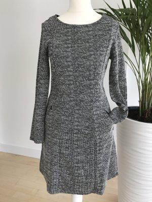 Kleid Etuikleid Schwarz Weiß Grau 34 XS