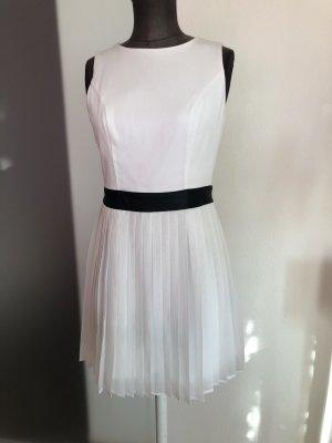 Kleid Etuikleid von Rainbow Gr 36 38 S weiß Plissee Rock