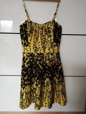 Stretch jurk zwart-sleutelbloem