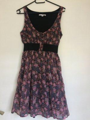 Tally Weijl Vestido babydoll negro-rosa