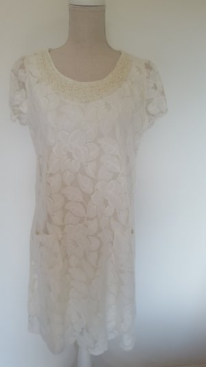 Atmosphere Lace Dress natural white