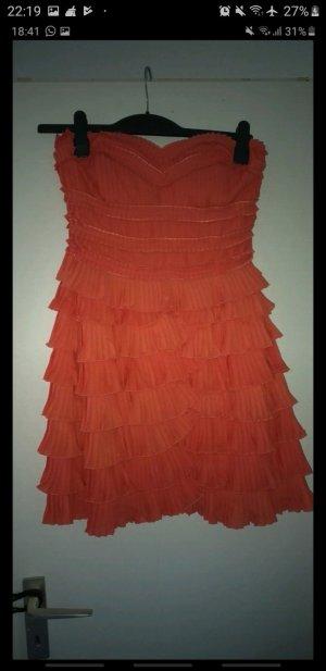 Robe trapèze orange fluo