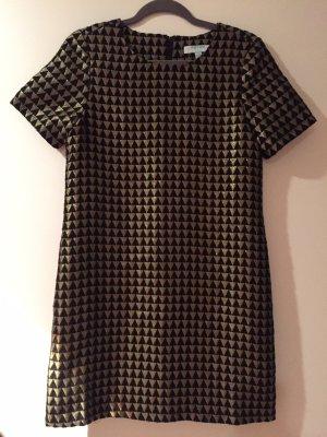 Kleid Fever London schwarz Gold Größe 36