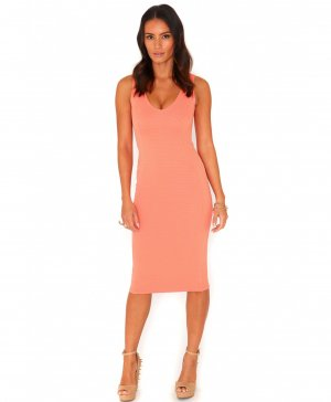 "Kleid figurbetont ""ryana ribbed bodycon midi dress"""