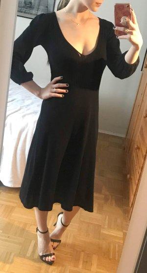 Kleid French Connection Gr. 36 S (10) schwarz Midikleid Baumwolle elegant