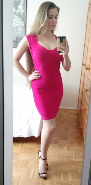 Kleid French Connection Gr. 36 S pink Bandage bodycon leger ausverkauft sold out