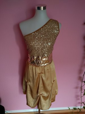 Kleid für Abi/Ball/Abschluss/Hochzeit in gold (K2)