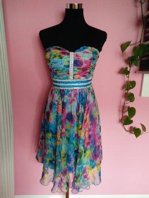 Kleid für Abi/Ball/Abschluss/Hochzeit mit Blumenaufdruck (B1)