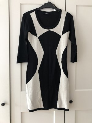Gina Sweater Dress black-white